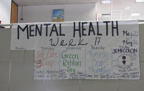 Students recognize the importance of mental illness with a mental health awareness week.