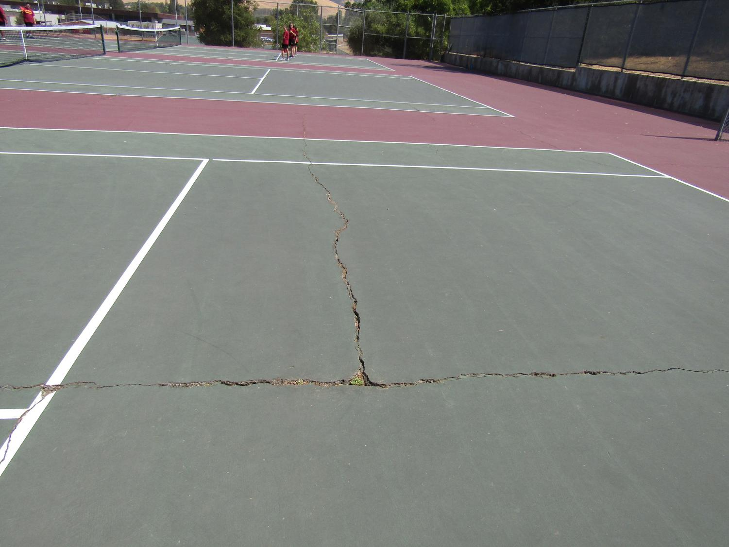 Northgate tennis courts are in need of repairs, which are expected to take place this spring.