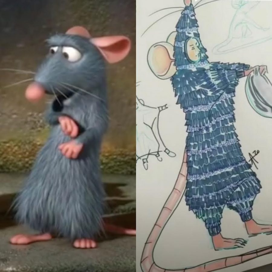 Remy, lovable rat star Pixar's 2007 Ratatouille, is on the left next to his design in the highly anticipated TikTok musical set to stream Jan. 1.