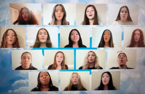 "Bella Voce performs ""Light of a Clear Blue Morning,"" by Dolly Parton, as part of a countywide virtual singing festival organized by the Diablo Regional Arts Association."