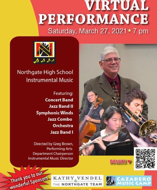A musical weekend awaits, with virtual choir and instrumental concerts March 26 and 27 featuring hundreds of students