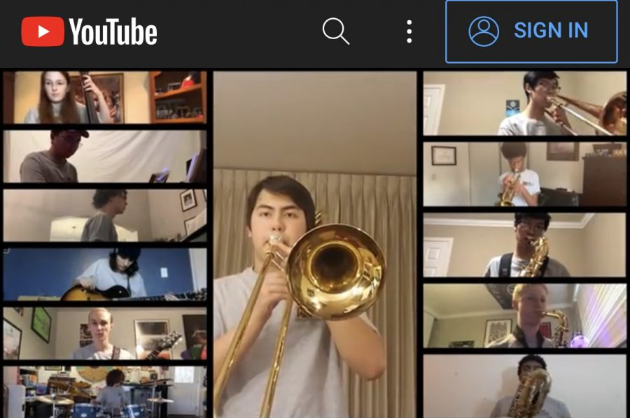 Freshman+Aaron+Baack+solos+with+Jazz+Band+II+during+Northgate%27s+virtual+concert+featuring+six+musical+groups.+Baack+also+performs+with+the+Concert+Band.+See+link+in+article+to+access+the+concert+on+YouTube.