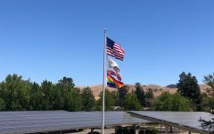 The rainbow flag, flying above Northgate June 3, is symbolic of LGBTQ pride and diversity.